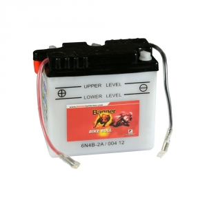 Batterie moto BANNER 6N4B-2A / 6v 4ah