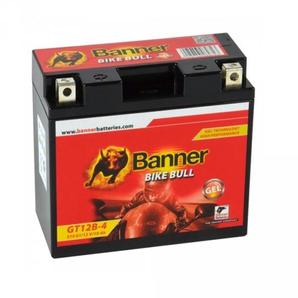 batterie moto gel banner gt12b 4 yt12b bs 12v 10ah. Black Bedroom Furniture Sets. Home Design Ideas