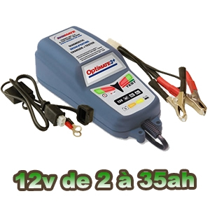 OPTIMATE 3 chargeur batterie 12v de 2 à 35ah