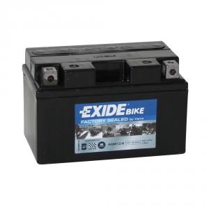 Batterie moto EXIDE AGM12-8 12V 8.6ah 190A