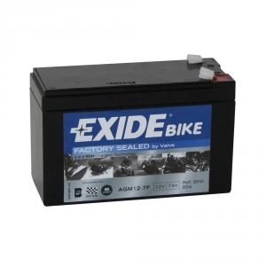 Batterie moto EXIDE AGM12-7F 12V 7ah 90A