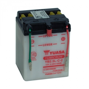 Batterie moto YUASA  YB2.5L-C 12V 2.6AH